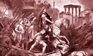 Tony Robinson has compared the A-level decisions to the sacking of Rome by the Visigoths.