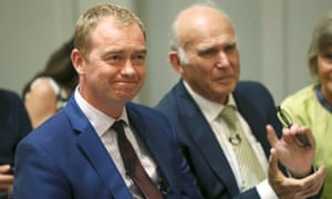 Tim Farron, left, and Vince Cable