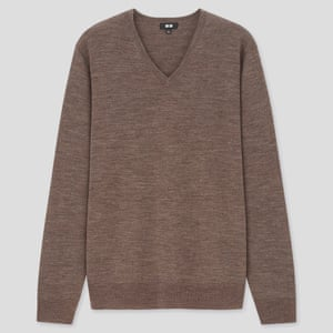 Uniqlo have all the key basic knitwear bases covered. V-neck, £29.90, uniqlo.com