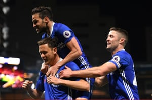 Matic celebrates after scoring the third.