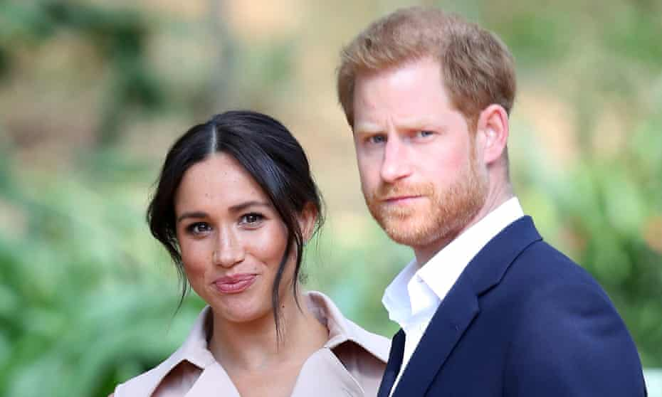 The duke and duchess of Sussex in Johannesburg earlier this month.