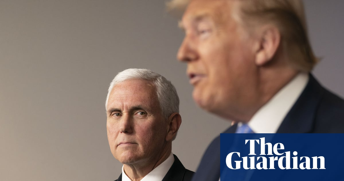 Strangely Competent Mike Pence Finds His 9 11 Moment In Coronavirus Crisis Us News The Guardian