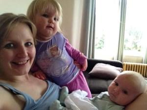 Fran with daughter Nessa and newborn Ciaran