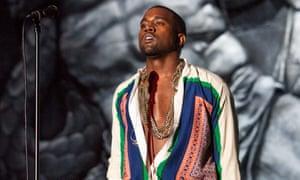 Kanye West at Coachella in 2011.