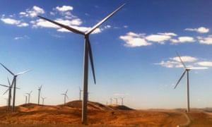 A windfarm in Burra, South Australia