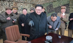 In an undated picture Kim Jong-un is shown inspecting missile. His country is a threat to millions of innocent people, argues the chair of a former UN inquiry