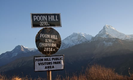 Take it easy: Poon Hill lies in the foothills of the Annapurnas in the Himilayas.