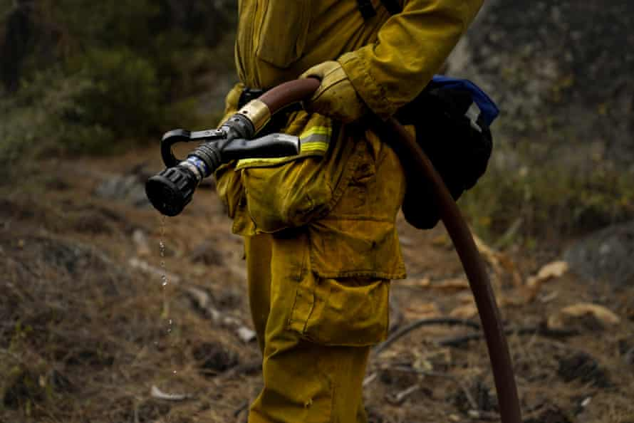 Firefighters are still working to contain south-east sections of the Caldor fire in the Lake Tahoe area.