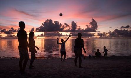 Sunset at Tumon Bay in Guam.
