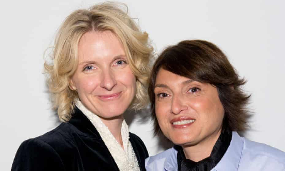 Author Elizabeth Gilbert, left, has announced she is in a relationship with her best friend, Syrian-born writer Rayya Elias.