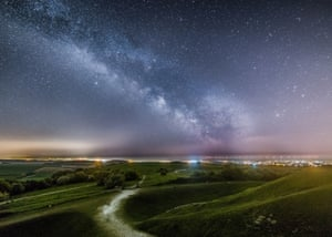 South Downs, UK. Neil Jones has won 1st place in the Dark Skyscapes category of the South Downs National Park's astrophotography competition