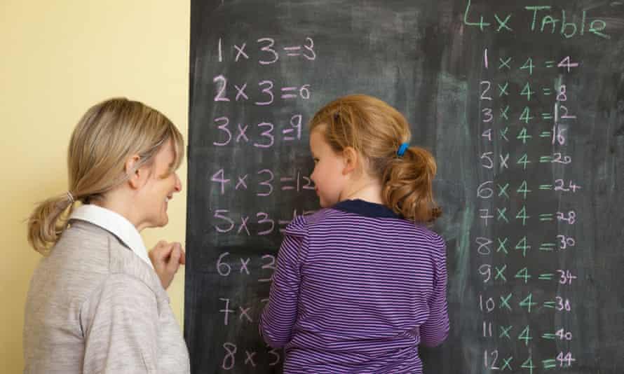 Teacher and maths student.
