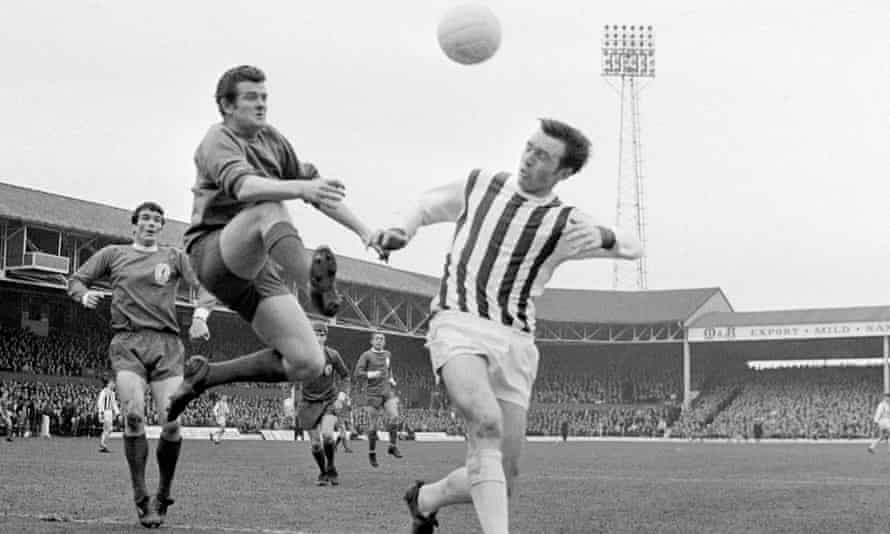 Jeff Astle in action in 1968. The former West Brom forward's death in 2002 prompted a promise to tackle brain trauma but progress has been slow.