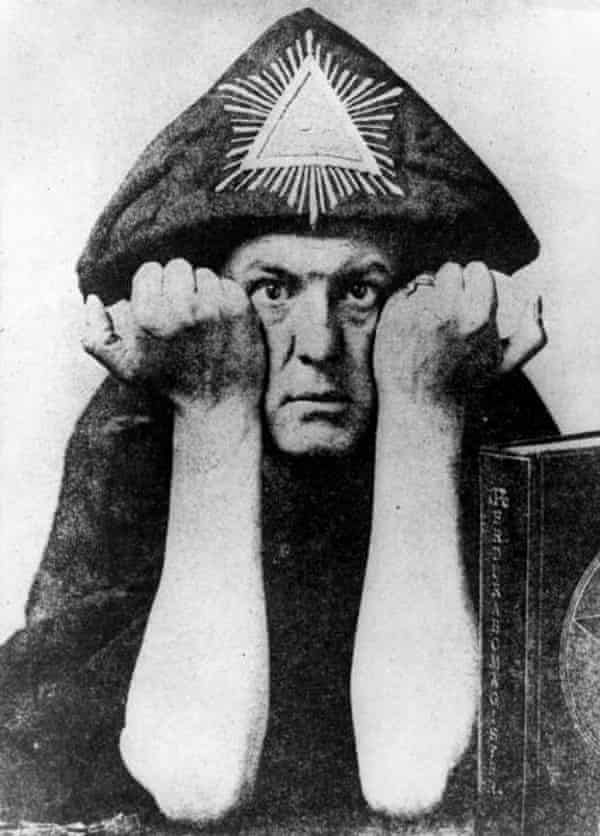 Distinctly uneasy … occultist Aleister Crowley.