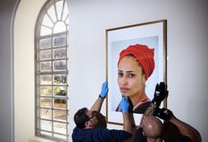 Zadie Smith's portrait is installed