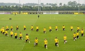 Borussia Dortmund players in training