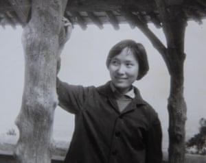 Zhang Xizhen poses in Beijing in 1968