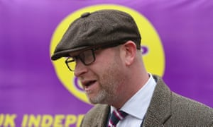 Paul Nuttall outside Ukip offices