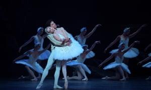 Jurgita Dronina and Isaac Hernández in English National Ballet's Swan Lake at the London Coliseum.