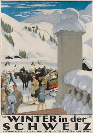 Winter in der Schweiz, 1921, by Emil Cardinaux