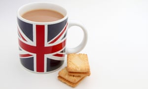 Union jack mug and biscuits