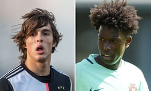 Juventus' Pablo Moreno (left) is set to join Manchester City with Félix Correia moving in the opposite direction.