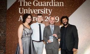 Teaching excellence award winner: Manchester Metropolitan University.
