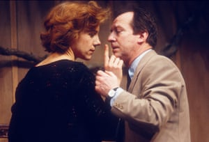 Juliet Stevenson and Bill Paterson in Death and the Maiden by Ariel Dorfman, directed by Lindsay Posner, in 1991.