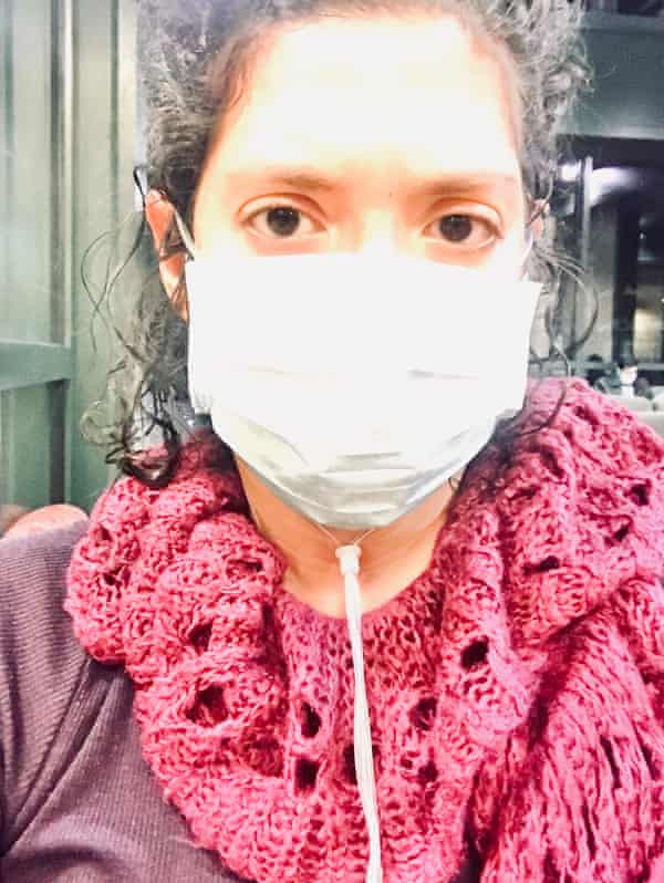 Melanie Montano in ER in March. 'It's an infinity loop of fatigue and forgetfulness with no clear end in sight,' she said.