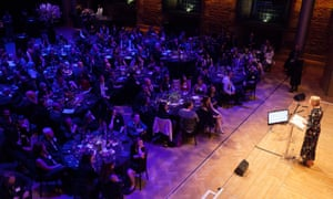 Host Lauren Laverne presents the Guardian University Awards 2017 held at LSO St Luke's in Old Street, London. 29 March 2017