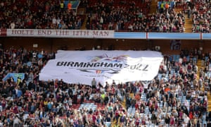 A Commonwealth Games banner at Villa Park in Birmingham, the host city in 2022.