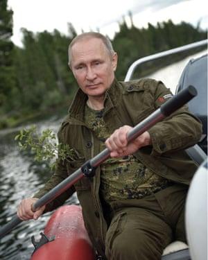 Putin kayaking