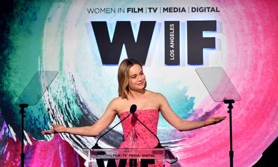 Brie Larson at the Women in Film Crystal + Lucy Awards in Beverly Hills