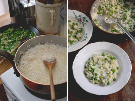 Rachel Roddy's spring risotto.