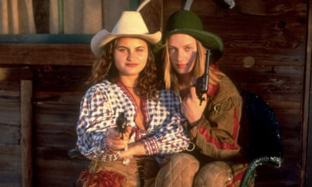 Gunslingers … with Uma Thurman in the 1993 film Even Cowgirls Get the Blues.