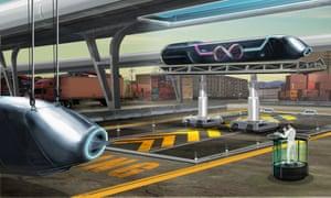 Illustration of the hyperloop