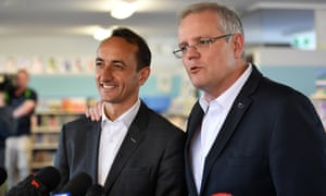 Dave Sharma with Scott Morrison on the campaign trail