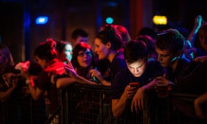 People queuing for a club