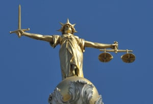 Lady Justice statue atop the Central Criminal Court