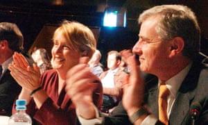 Jenny Macklin with Simon Crean in 2002.