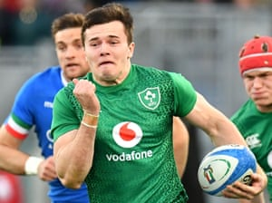 Jacob Stockdale on the charge in Rome.
