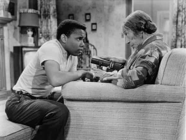 Johnny Nash and Estelle Hemsley in the 1959 film Take A Giant Step