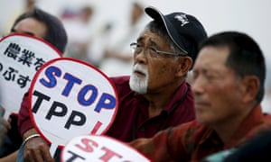 Japanese farmers against Trans-Pacific Partnership