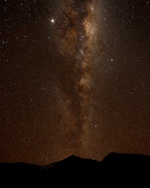 The starry sky of Chile during the total solar eclipse, Paiguano, Chile.