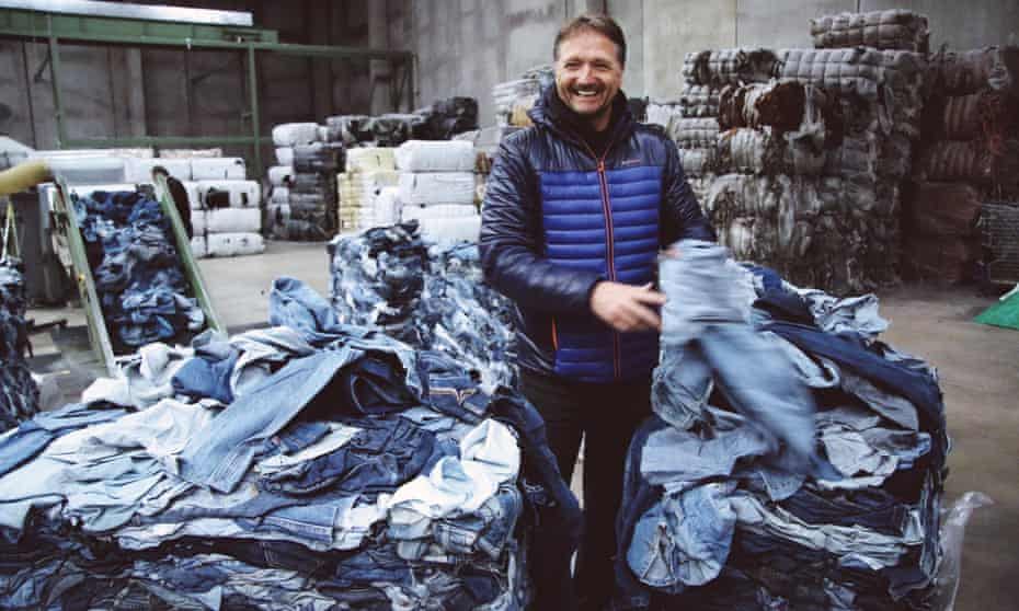 Bert van Son, founder of Mud Jeans, at a recycling factory based in Valencia, Spain.