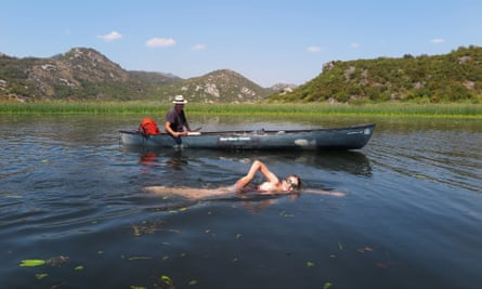 Canoeing and camping Montenegro