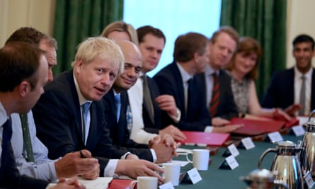 Boris Johnson holds his first cabinet meeting