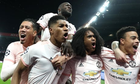 Manchester United floor PSG as Marcus Rashford's late penalty caps comeback