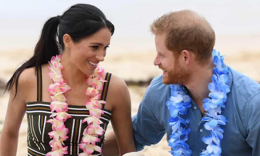 The Duke and Duchess of Sussex take part in a 'Fluro Friday' session run by OneWave.