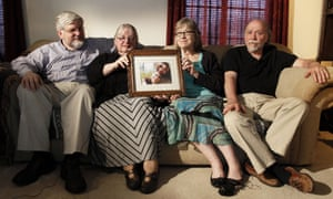Patrick and Linda Boyle with Lyn and Jim Coleman in 2014. Jim Coleman said: 'Taking your pregnant wife to a very dangerous place, to me, and the kind of person I am, is unconscionable.'